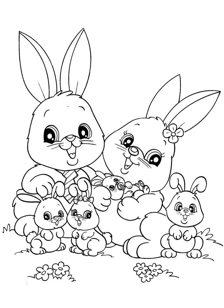 귀여운 토끼 색칠공부 네이버 블로그