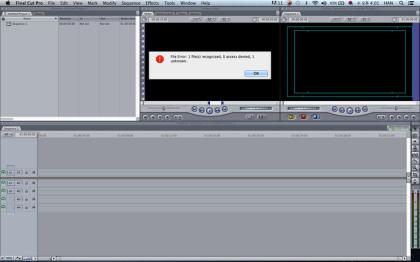 한렌탈 XDCAM 포맷으로 촬영된 영상을 Final Cut 으로