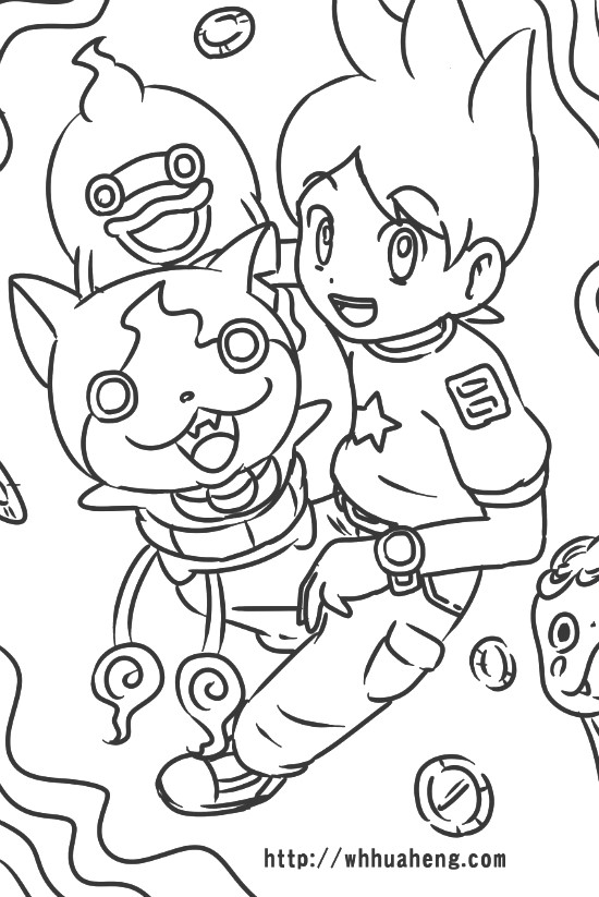 Youkai Watch Coloring Pages Printable Sketch Coloring Page Coloring Pages Youkai Watch Colouring Pages