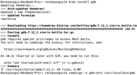 Install Gdb On Mac Brew