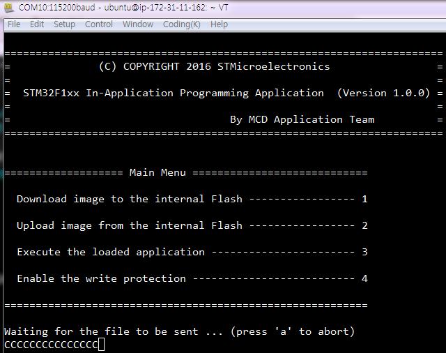 STM32] IAP + USART (AN4657) : 네이버 블로그