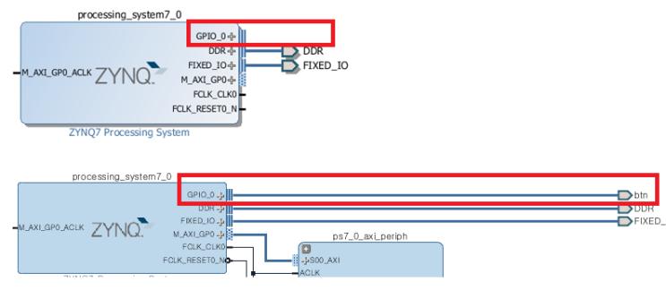 zybo, Zynq] Lab1  Building a Complete Embedded System (EMIO 제어