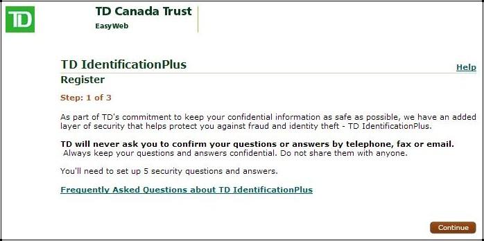 캐나다 생활] TD 은행 계좌 개설 방법/인터넷뱅킹 가입방법 : 네이버 블로그