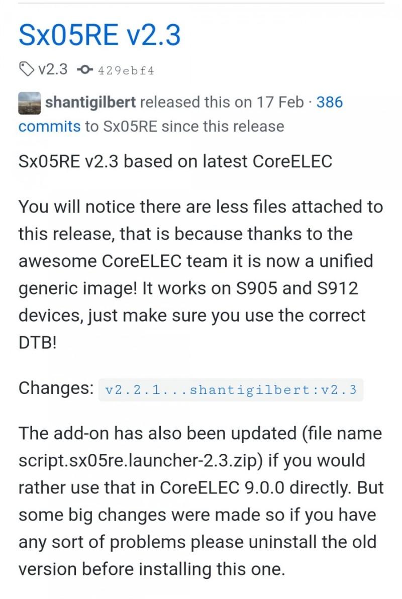 Coreelec Update